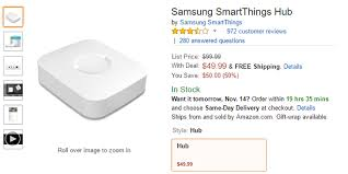 amazon black friday z wave devices deal alert samsung smartthings hub v2 only 50 50 off on amazon
