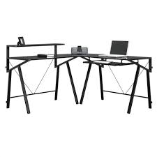 Glass L Shaped Computer Desk by Home Office Atrium Metal And Glass L Shaped Computer Desk 5 Tips