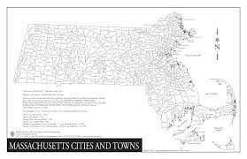 Ma Map Massachusetts Town Map Montana Map