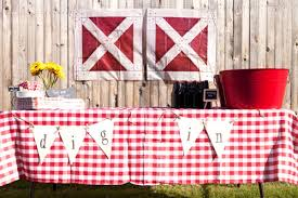 Rustic Backyard Party Ideas Rustic Backyard Barn Farm Second Birthday Party Red Gingham Table