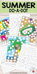 free summer do a dot printables easy peasy learners