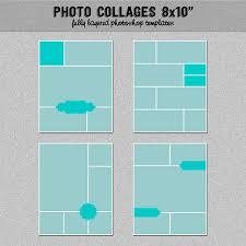 4 photograph collage templates 8x10