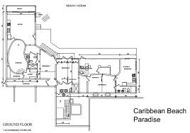 Vacation Cottage Plans by Floor Plans Caribbean Holiday House Caribbean Vacation Villa
