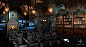 custom batcave home theater movie seats on modern decoration 11