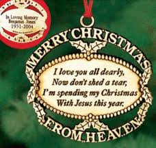 personalized merry from heaven ornament harriet