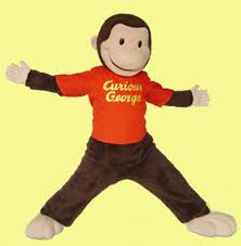 curious george custom mascot promotional character visit