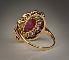 engagement ruby rings images Antique ruby diamond edwardian engagement ring antique jewelry jpg