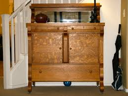 1940 u0027s antique tiger oak empire sideboard buffet server modern