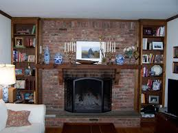Home Design Living Room Fireplace by Rustic Brick Fireplace Mantel All Home Decorations