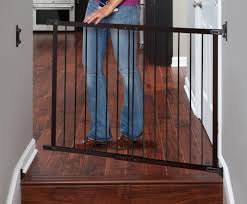 Self Closing Stair Gate by Designer Angle Mount Safeway