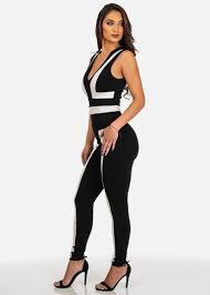 white sleeveless jumpsuit fashion black and white sleeveless jumpsuit