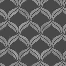 decor geometric black silver glitter wallpaper fd41702