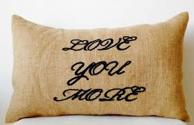 Burlap Decorative Pillows Embroidered Pillows And Decorative Throw Pillows Online At Best