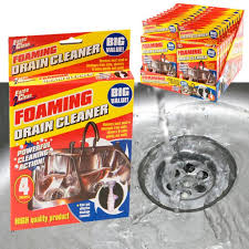 X FOAMING DRAIN PIPE CLEANER UNBLOCKER SINK SHOWER BATH BATHROOM - Cleaning kitchen sink pipes