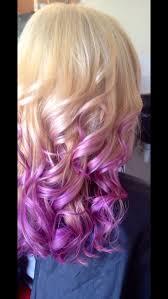 blonde to pravana wild orchid with pastel purple ombré my