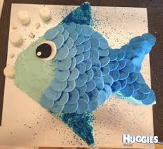 fish birthday cakes blue fish huggies birthday cake gallery huggies