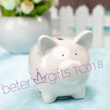 piggy bank favors li l saver favor ceramic mini piggy bank in gift box with polka