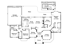 house floor plans with basement southwest house plans lantana 30 177 associated designs