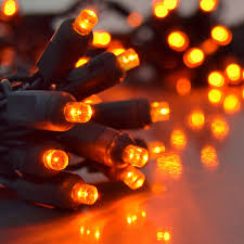 outdoor orange led party string lights black wire