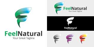 letter f logo feel natural logo template letter logo templates