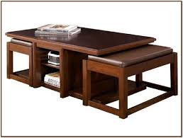 table with stools underneath stylish coffee table with stools coffee table with stools for your