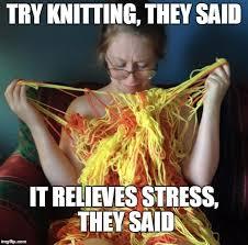 Knitting Meme - try knitting imgflip