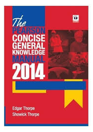 the pearson concise general knowledge manual 2014 1st edition