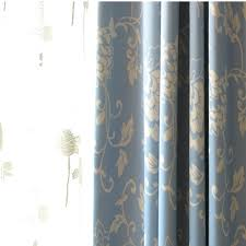 Blue Floral Curtains Blue Floral Blackout Shabby Chic Curtains