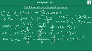 solving linear equation in two variables easy