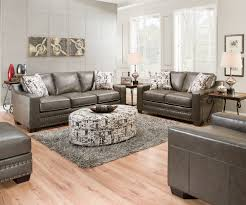 trend gray sofa with nailhead trim 40 in sofas and couches set
