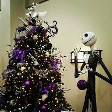 jack skellington and a spooky christmas tree nightmare before