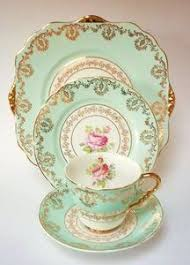 leonard st pottery burslem vintage china tea set tea cup trio