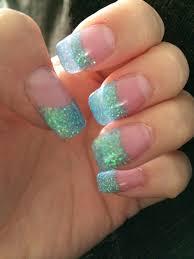 glitter tip acrylics loving my summer holiday nails nails