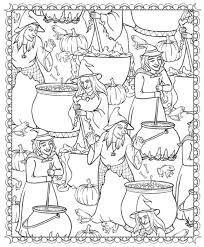 free printable halloween coloring adults coloring