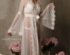 honeymoon sleepwear silk bridal nightgown with open back and lace by apilat on zibbet
