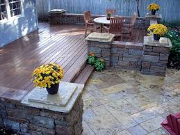 incredible stone decks and patios designs 17 best ideas about