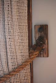decorating burlap curtains for beautiful home decoration ideas