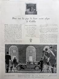 cadillac advertising vintage poster illustration print car