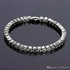 bracelet crystal tennis images Online cheap new fashion men tennis bracelet crystal design punk jpg