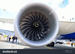 rolls royce engine singapore february 12 front view intake stock photo 95144587