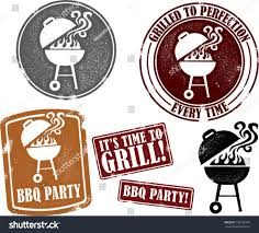 Backyard Bbq Grill Company by Backyard Bbq Grilling Party Stamps Stock Vector 105180785