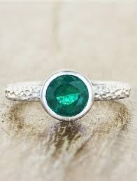 emerald engagement ring unique bezel set emerald engagement ring ken