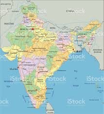 Asia Map Labeled by India Highly Detailed Editable Political Map With Labeling Stock