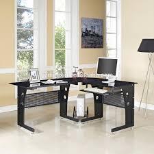 Glass Computer Desk Corner Glass Computer Desk Pc Table Black White Glass New L Shape