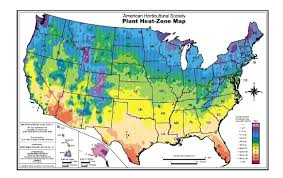 america climate zones map ahs plant heat zone map american horticultural society