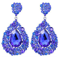 royal blue chunky cluster earrings 3 25 caylee jo s pageant