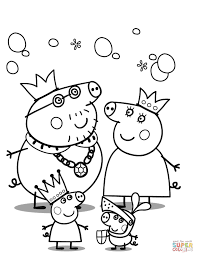 peppa pig u0027s royal family coloring page free printable coloring pages