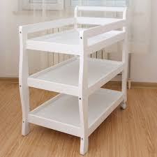 Baby Change Table Sleigh 3 Tier Pine Wood Baby Change Table In White Buy Changing