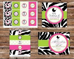 zebra print baby shower1 year birthday party locations 241 best davianna s shower images on zebra baby