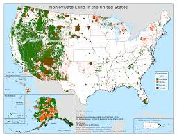The United States In The World Map by Non Private Land In The United States United States Pinterest